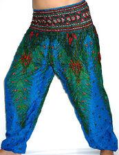 Sarouel Femme Pantalon Ethnique Aladin Harem Pant Aladdin yoga bleu turquoise