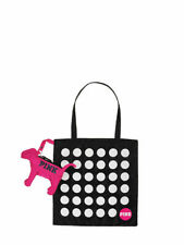 Victoria's Secret PINK Fold-&-Pack Dot Tote inside Dog  LIMITED EDITION