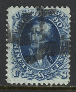 SCOTT 72 1861 90 CENT WASHINGTON REGULAR ISSUE USED VG CAT $150!