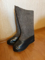Russian felt boots VALENKI with galoshes