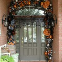Cobweb Fireplace Scarf Lace Black Spider Web Mantle Cloth Home Halloween Decor