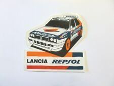 VECCHIO ADESIVO / Old Sticker AUTO RALLY LANCIA DELTA REPSOL (cm 10 x 10)