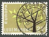 Luxembourg Scott# 386, Europa Issue, Young Tree with 19 Leaves, Used, 1962