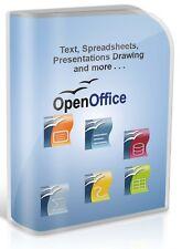 Open Office 2016 Word Processor Spreadsheet Database Software Disc