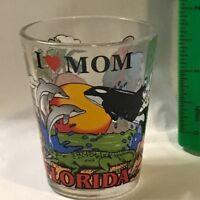 Florida I Love Mom Lion Parrot Orka Whale Shot Glass