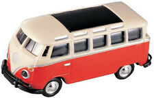 VW Bus, Rosso/Bianco - 1:87/H0 Gauge-MODEL POWER (19160)
