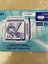 More details for sharp md-mt99h(s) portable minidisc digital recorder player.