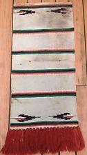 VTG Wool American Western SADDLE BLANKET Pad Fringe Horse Equestrian Tack