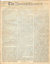 The Boston Chronicle Loyalist Newspaper July 4, 1768 Townshend Acts Revolution