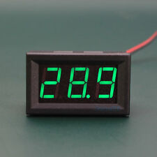 Small Mini DC 5V-120V Voltmeter Green LED Display 3-Digital Voltage Meter 2-wire