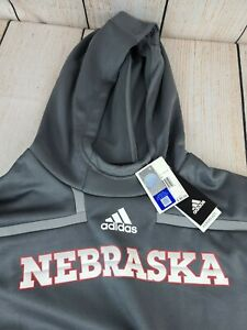 NEW Adidas Nebraska Cornhuskers Huskers Sweatshirt PULLOVER Hoodie XL NWT $80