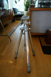 Vintage High Quality Cherry Aluminum Camera Tripod Expandable Sturdy / Japan