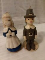 Gurley, Vintage Pilgrim Candles Set, 6 Inches, Thanksgiving Boy & Girl,  Unlit
