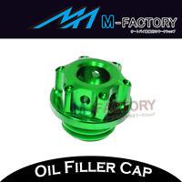 Green CNC Engine Oil Filler Cap Plug Fit Kawasaki Z1000 2010-2016 10 11 12 13