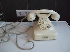 Altes RB&Co Telefon Bakelit W48 mit Wählscheibe von 1961 Elfenbeinfarbig