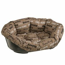 Ferplast 70224999ZP Sofa 4 Dog/Cat Bed Plastic with Removable Padded Cotton Cove