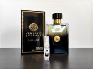 Versace Pour Homme Oud Noir 2 ml Sample Decant Eau De Parfum Woody Spicy Men