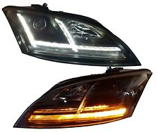 Faros xenón Audi TT 8j 06-10 negro dinámico intermitentes de LED LUZ CIRCULACIÓN DIURNA