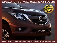 MAZDA BT-50 MK2 UR FRONT & REAR DUAL CAB  NEOPRENE SEAT COVERS-WETSUIT MATERIAL