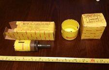 "Vintage Starrett Hole Saw Blades & No. A2 Saw Arbor, 1.5"" & 2.25"" Sizes"