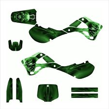 1999 2000 2001 2002  KX125 KX250 graphics for Kawasaki #6666 Green
