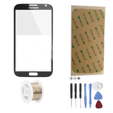 Samsung Galaxy Note 2 N7100 LTE Glas Scheibe Front Touch Glass Touchscreen Grau