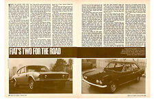 1970 FIAT 124 SPORT COUPE & DINO 2400  ~  ORIG 2-PAGE DRIVE TEST ARTICLE / AD