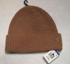 Polo Ralph Lauren Cuff Hat Cap Beanie Wool/Nylon NWT Camel