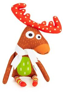 Reindeer With White Scarf Soft Toy, 48CM  Christmas Gift, Soft Toy,