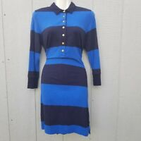 J.Crew Women's Dress Size Small Cotton ColorBlock 3/4 Sleeve Rugby-Stripe