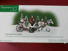 Dept 56 Christmas In The City Accessory A Carriage Ride For The Bride Nib