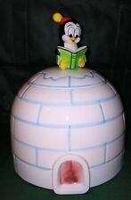 Chilly Willy Walter lantz ceramic Igloo Cookie jar very nice rare Napco