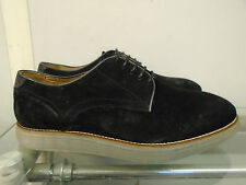 MENS H BY HUDSON SHOES BOSON BLACK SUEDE UK 8 RRP £100