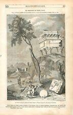 La fuite en Egypte Tête Saint Gérard Buste Argent de Pierre Puget GRAVURE 1849