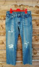Abercrombie & Fitch Kennan Recto para Hombres Blue Jeans W29/30 PVP £ 70