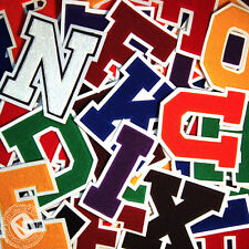 Chenille Varsity Letter Patches A-M (11 Colors) School Letter Patch MADE IN USA.