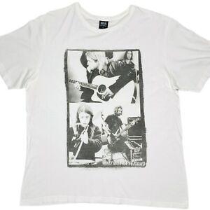 Nirvana Nevermind Recording Graphic Mens White T-Shirt Size Large 2015