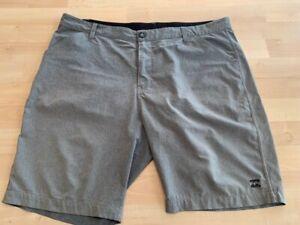 Billabong Mens Platinum X Grey Stretch Hybrid Walk/ Surf Shorts Size 38