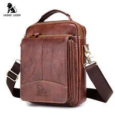 LUOSEN Men Genuine Leather Shoulder Bag Messenger Bag Small Casual Crossbody Bag