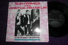 """EURYTHMICS & ARETHA FRANKLIN """"Sisters are doin' it for themselves """"  UK 7"""" RCA"""