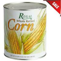 (CASE OF 6) #10 Can Regal Foods Bulk Whole Kernel Sweet Vegetable Corn Pantry