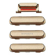 """Volume Power Button Vibrate Mute Side Switch Set for iPhone 6 4.7"""" (Gold)"""