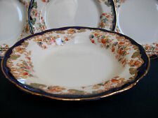 NEW WHARF HARWOOD- FLOW BLUE (c.1908)- SOUP PLATE (s)- RARE!! EXCELLENT!! GILT!!