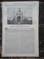 1886 Internationale Ausstellung in Antwerpen Georg Demmler  Güstrow Schwerin
