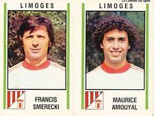 N°515 SMERECKI / AMOUYAL FC.LIMOGES VIGNETTE PANINI FOOTBALL 81 STICKER 1981