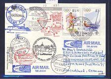 59051) LH FF Edimburgo GB-Francoforte 28.3.99, cartina SP BP Seychelles Olimpiadi 2