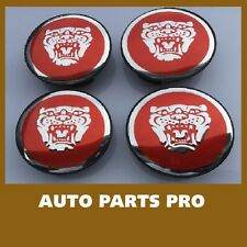 NEW JAGUAR SET OF 4 RED JAG II WHEEL HUB CAPS LOGO RIM 59MM COVER EMBLEM CAP