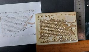 Rubber stamps poss La Blanche script