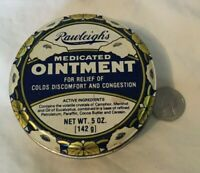 * Vintage Advertising Tin RAWLEIGH'S MEDICATED OINTMENT Salve Tin