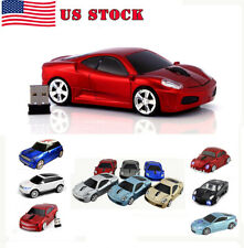 USB 2.4Ghz Car Wireless Optical Mouse Cordless Gaming led Mice for PC Laptop MAC